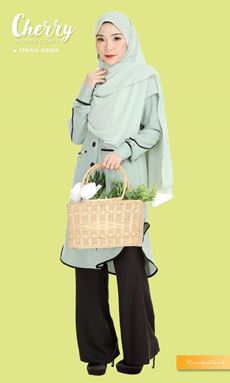 BLOUSE CHERRY - SPRING GREEN