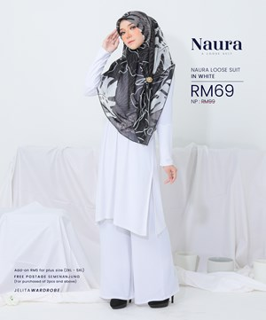 NAURA SUIT IN WHITE