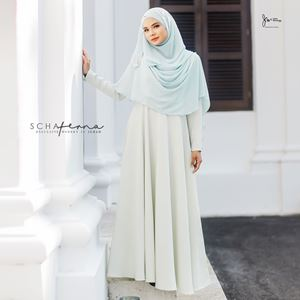 SCHAFERNA EXCLUSIVE MODERN IN JUBAH (SOFT GREEN)