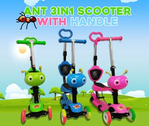 Ant 3in1 Scooter With Handle & Backsupport Seat