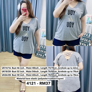 4121 * Ready Stock * Bust 46 to 58inch /116 - 147cm