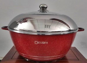 DESSINI WOK STEEL 40CM - RED