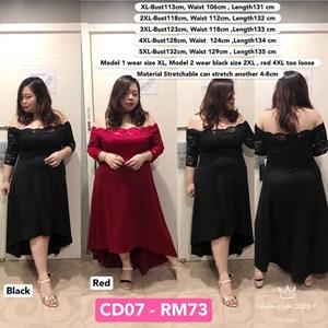 CD07 *Ready Stock *Bust 113-120cm