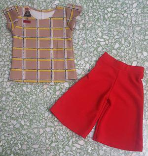 PALAZZO SET 002 ( RED PANT )