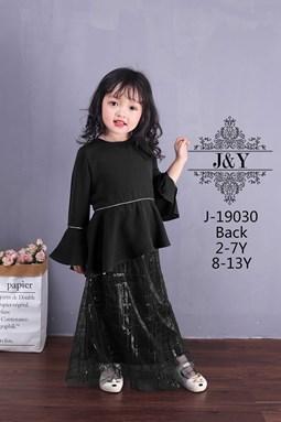 J & Y    BAJU RAYA - BLACK  ( SIZE 1Y-6Y )