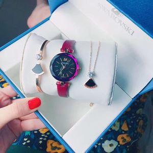 SWR08 A09 Swarovski Elegant Watch Set (Watch + Necklace + Bangle)