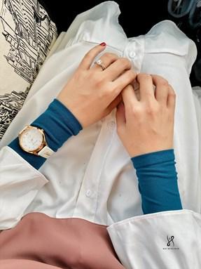 TASNEEM BASIC HANDSOCKS - PEACOCK BLUE