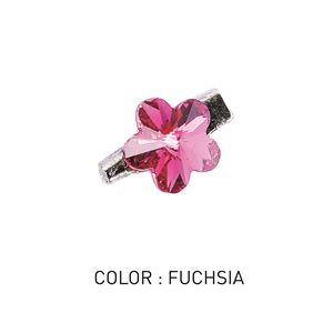 Brooch 3D Flower Luxe Fuschia
