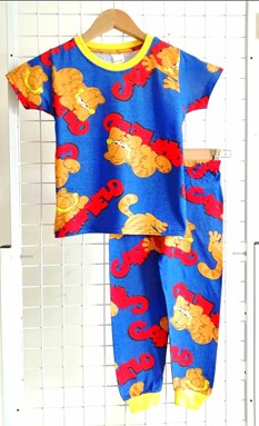 Pyjamas GARFIELD BLUE : KIDS size 2 - 10 (MF)