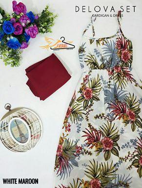 DELOVA SET ( CARDIGAN & DRESS )