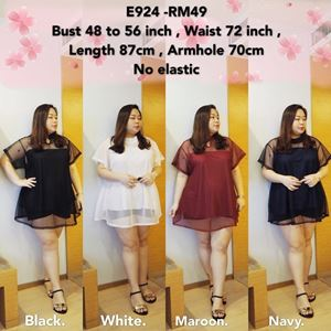 E924 *Bust 46 to 56inch/117-142cm