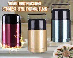 1000ml Multifunctional Stainless Steel Thermal Flask