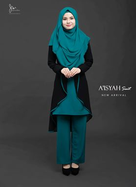 Aisyah Suit ( TURQOISE ) BATCH 03