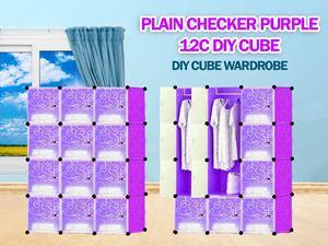 Plain Purple 12C DIY WARDROBE (PP12)