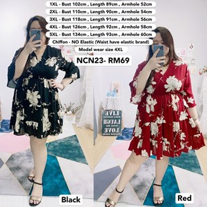 NCN23 *Ready Stock *Bust 40 to 53 inch/ 100-134cm