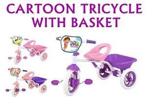 CARTOON TRICYCLE WITH BASKET N00665