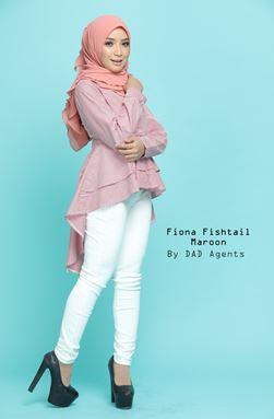 Fiona Fishtail Maroon