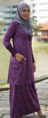 Baju Kurung Melissa (KM107) -Size  M ONLY available