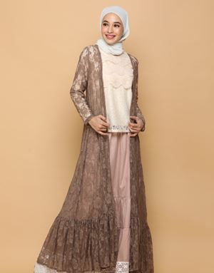 MYSA LACE CARDIGAN IN BROWN