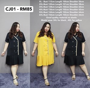 CJ01 Ready Stock * Bust112-152cm
