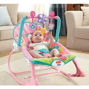 pink butterfly Girls' Infant-to-Toddler Rocker