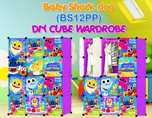 Baby Shark Doo PURPLE 12C DIY WARDROBE (BS12PP)