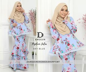 Peplum Julia Sky Blue