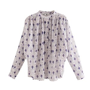 TINY FLORAL PRINTS PURPLE TOP