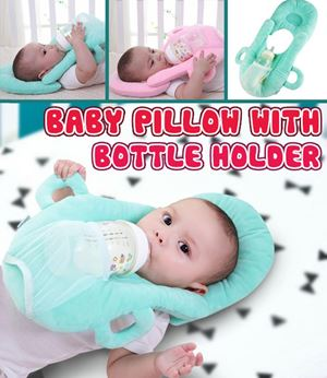 BABY PILLOW WITH BOTTLE HOLDER