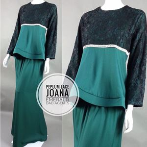 Peplum Lace Joana Emerald Green