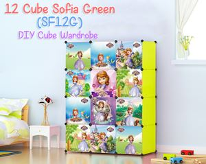 Sofia Green 12 Cube DIY Wardrobe (SF12G)