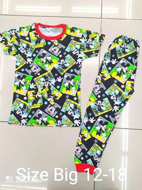 Pyjamas MICKEY STAR BLACK :  BIG Size 12 -16