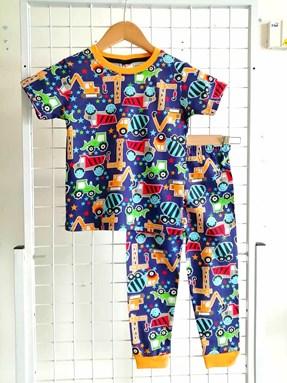 Pyjamas TRACTOR BLUE :  Big Size 12-16