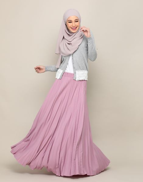 HARPER SKIRT IN DUSTY PURPLE