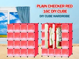 Plain Red 16C DIY WARDROBE (PR16)