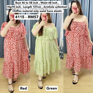 4115 * Ready Stock * Bust 46 to 58inch /116 - 147cm