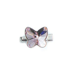 Brooch 3D Butterfly Luxe Light Amethyst