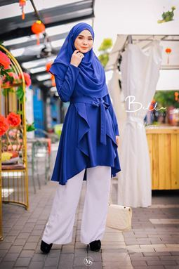 BLOUSE BELLA - ROYAL BLUE