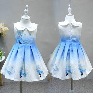 @  European Style Dress ( BLUE )  ( SZ 100-140 )