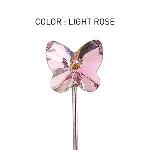 Pin 3D Butterfly Light Rose