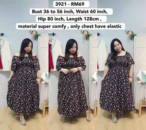 3921 Ready Stock *Bust 36 to  56 inch/ 91-142cm