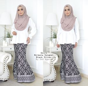 Skirt Songket Nirmala Black Silver