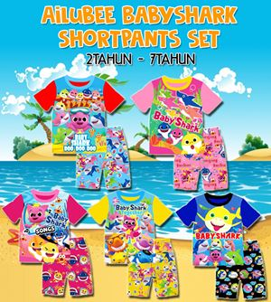 Ailubee Babyshark Shortpants set (2T-7T)
