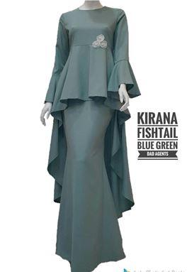 Kirana Fishtail Blue Green