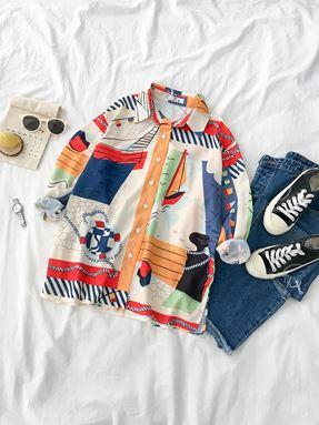 Casual Sail Printed Shirt