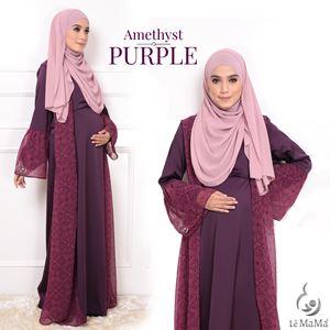 Abaya Rania : Amethyst Purple