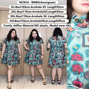 NCN16  *Bust 40 to 49 inch/ 102 - 126cm