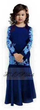 Baju Kurung Moden - Blue