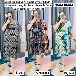 4063 * Ready Stock * Bust up to 58inch / 147cm