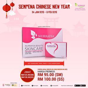 CNY PROMO : NURRAYSA Trial Pack Set + Collagen Soap